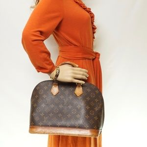 Auth Louis Vuitton Alma Satchel Bag #2295L13